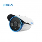 JOOAN 720p 1.0 MP wasserdichten Outdoor-ONVIF Sicherheitsgewehrkugel IP-Kamera w / IR-CUT / 2-IR-LED - White