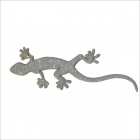 DIY 3D Reflective Geckos Style Car Plastic Sticker - Silver