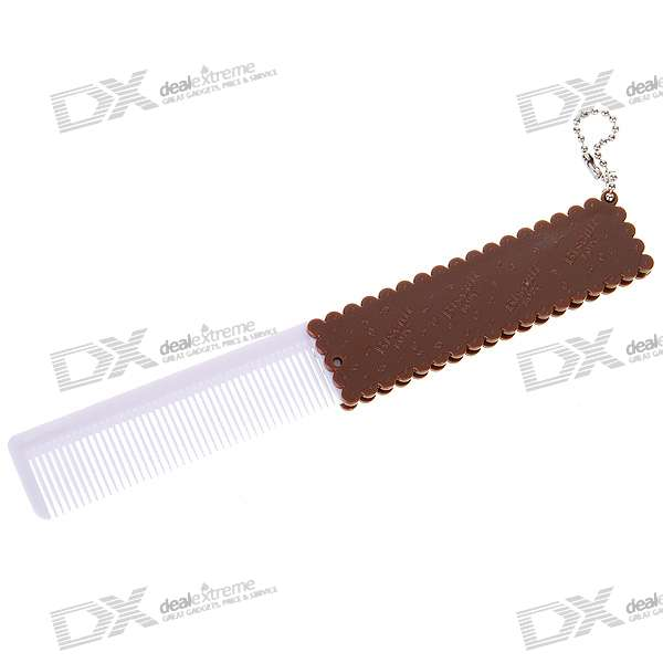 Portable Wafer Biscuit Retractable Hair Brush