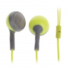 Sibyl M-50 Stylish Stereo 3.5mm Plug In-Ear Earphones - Green + Grey (105cm)