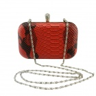 IN-Color FSW2117C61/S Women's Fashionable Waterproof Zinc Alloy + PU Chain Bag - Red