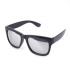 Style UV400 Protection Reflective Sunglasses - Black