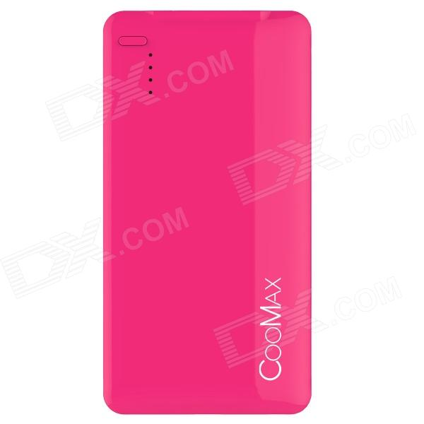 COOMAX C1 12mm Ultra-thin 4000mAh Mobile Power Source Bank for IPHONE + More - Red coomax c6 12000mah dual usb mobile power source bank for iphone samsung more gary