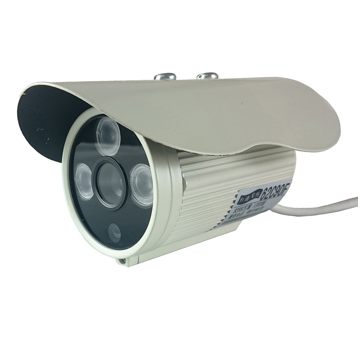 JK-201 HD 1/4 1080TVL CMOS IR Night Vision Surveillance Camera w/ IR-CUT - Grey BeigeCCTV Cameras<br>Color Grey Beige Model JK-201 Material Aluminum alloy shell Quantity 1 Set Image Sensor CMOS Image Sensor Size Others1/4 Pixels 1080(TVL) Picture Resolution 628(H) x 582(V) Lens 6mm Viewing Angle Others39 ° Daytime 20 Minimum Illumination 0.01 Lux Electronic Shutter Speed 1/60~1/100000s Night Vision Yes IR-LED Quantity 3 Nigt Vision Distance 20 m Built-in Memory / RAM No Memory Card No Max. Memory Supported No Wireless / WiFi No Video System PAL Motor No Wireless Receiver no SNR &gt;48dB Water-proof IP66 Bracket no Power Adaptor no Plug Specifications OthersDC Rate Voltage DC 12V Rated Current 2 A Other Features With auto backlight compensation for clear image in dark condition; Waterproof and dust resistant suitable for outdoor use. Packing List 1 x Camera<br>