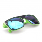 Dual-Color Colorful Rivet UV400 Protection Sunglasses - Black + Green