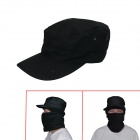 Outdoor Cotton Peaked Cap for Men - Black