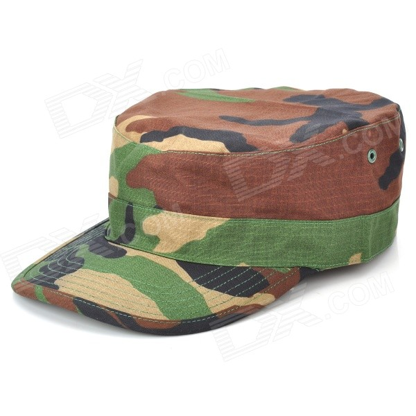 Outdoor Cotton Peaked Cap for Men - Camouflage Green