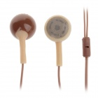 Sibyl M-50 Stylish Stereo 3.5mm Plug In-Ear Earphones - Coffee (105cm)