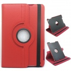 Goodlen 360 Degree Rotation PU Leather Case Cover Stand for IPAD MINI / Retina IPAD MINI - Red