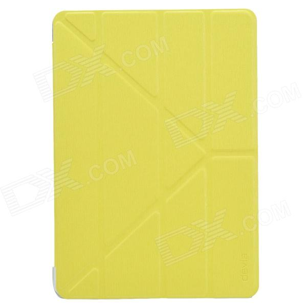 Devia Moge Protective PU Leather Case Cover w/ Special Soft Foldable Stand for IPAD AIR - Yellow