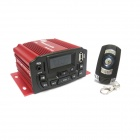 "400W 1.4"" LCD Motorcycle Amplifier MP3 Player w/ Anti-Theft Alarm, USB, TF, AUX, FM - Red + Black"