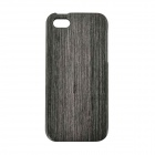 Thicken Protective Wooden Back Case for IPHONE 5 - Black Grey