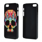 Skull Pattern Protective Aluminum Alloy Back Case for IPHONE 5 / 5S - Black
