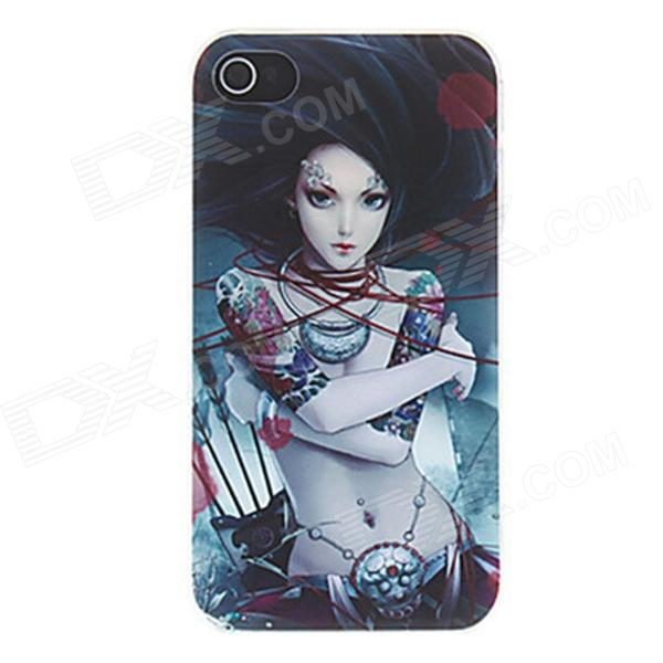 Kinston Swordswoman Hair lepatus Air Pattern Matte PC Kova takakannen iPhone 4 / 4S