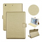 Angibabe Court Flower Protective PU Leather Case Cover Stand w/ Card Slot for IPAD AIR - Golden