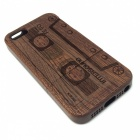 Retro Cassette Pattern Protective Wood Back Case for IPHONE 5 / 5S