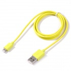 Mfi alexpro 8-pin lightning  data sync / charging cable for iphone / ipad / ipod - yellow (100cm)