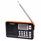 Degen DE29 Digital FM Stereo MW / SW DSP Receiver Radio w/ Recording / MP3 Player -  Black + Orange