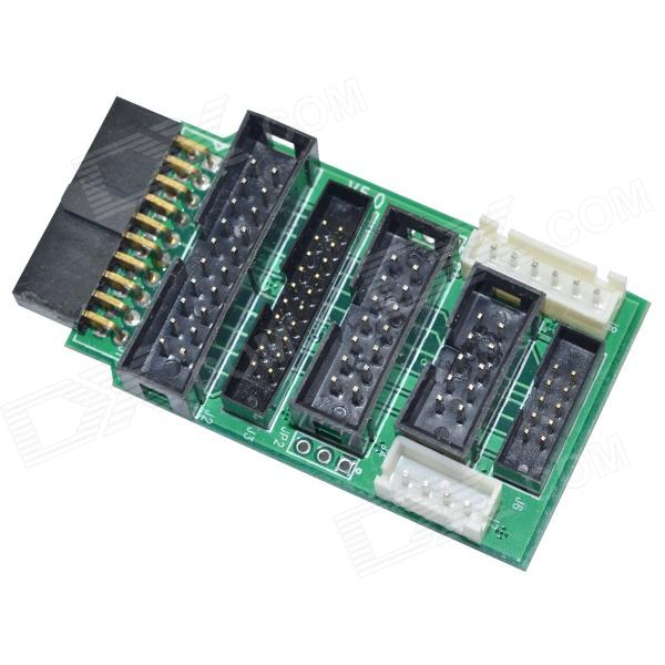 DMDG Jlink V7 Jlink V8 Adapter Board Compatible with Mini 2440 / 2440 / 44B0 / 6410 - Green