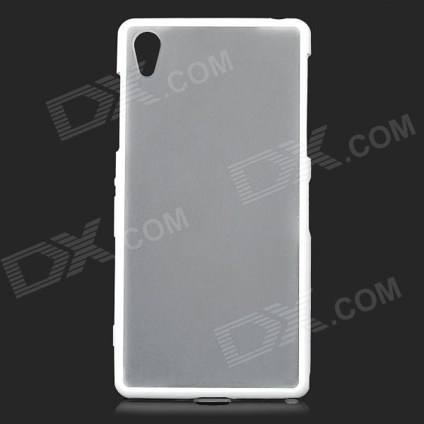 2-in-1 Protective TPU + PC Back Case for Sony Xperia Z2 L50w - White 2 in 1 protective tpu pc back case for sony xperia z2 l50w white