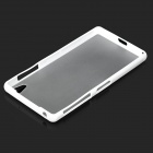 2-in-1 Protective TPU + PC Back Case for Sony Xperia Z2 L50w - White