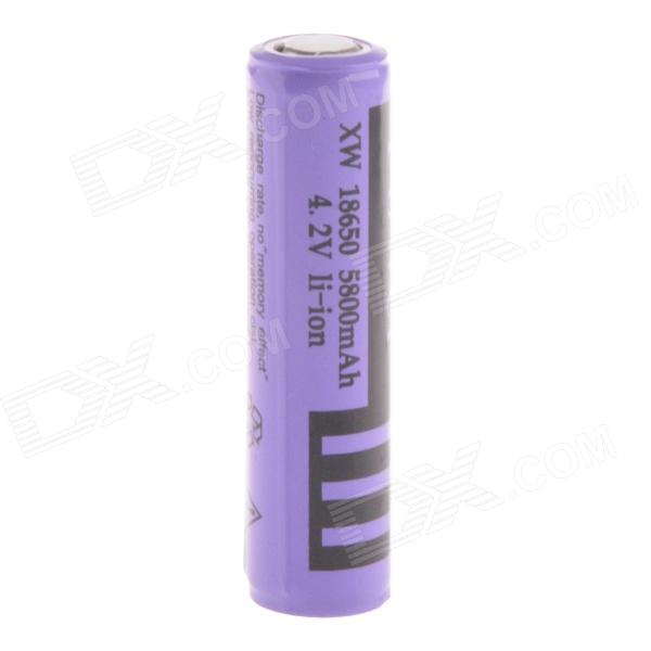 Potencia recargable 4.2V 2800mAh 18650 de litio ion recargable w / tabla de Protección - Purple