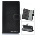 Stylish Flip Open PU + PC Case w/ Stand / Card Slots for Sony M51w Xperia/Z1 mini D5503 - Black