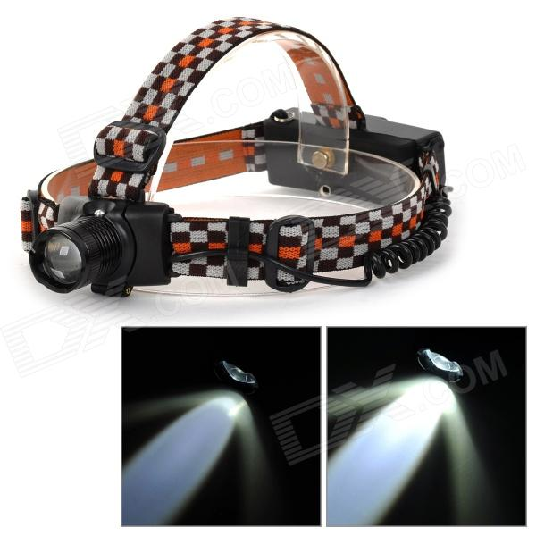 SLH SLH-H813 LED 180lm 3-Mode White Mini Zooming Headlamp - Black (1 x 18650)