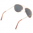 Cqda Fashionable PC Frame Resin Lens UV400 Protection Sunglasses - Golden