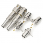 Copper BNC-5 Connector + BNC Female Connector Set for Security Surveillance System - Silver