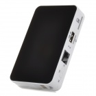 S-What 7225 3G Wi-Fi Router / 5200mAh Power Bank w/ SIM Slot / USB / TF - Black + White