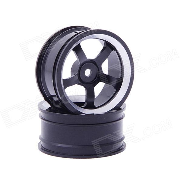 5-spoke Aluminum Alloy Wheel for 1:10 RC Car - Black (2 PCS)