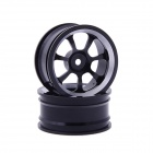 7-spoke Aluminum Alloy Wheel for 1:10 RC Car - Black (2 PCS)