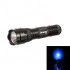 KINFIRE WF502 Cree XR-E Q3 210lm 5-Mode Blue Light Flashlight - Black (1 x 18650)