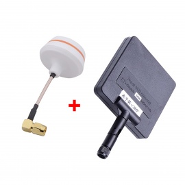 5.8G 11dBi 200mW Panel Antenna w/ 5.8G Right Angle TX-SMA Female Antenna Gains for FPV