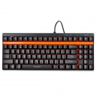 Rapoo V500 USB Wired 90-Key Mechanical Gaming Keyboard w/ Yellow Shaft Switch + 64KB DRAM - Black