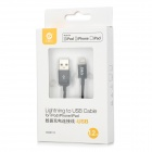 MFi D & S DSM8112 USB macho a 8 pines Cable de datos rayos para IPHONE / IPAD / IPOD - Negro (120 cm)