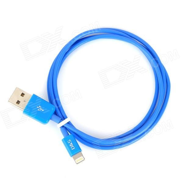 MFi D&S DSM8114 USB Male to 8-Pin Lightning Data Cable for IPHONE / IPAD / IPOD - Blue (100 cm) microlab fc 360