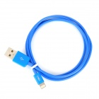 MFi D&S DSM8114 USB Male to 8-Pin Lightning Data Cable for IPHONE / IPAD / IPOD - Blue (100 cm)