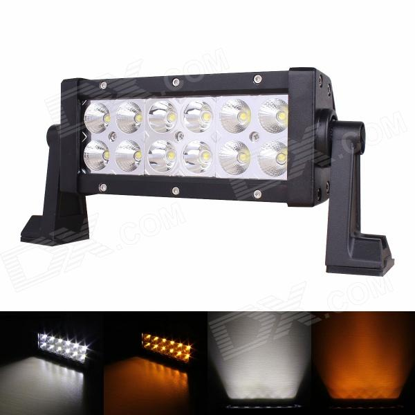 MZ 36W 2880lm 30°+ 60° Combo Yellow / White LED Work Light Bar Off-road SUV ATV Fog Lamp (10~30V) система освещения oem 42 240w cree offroad 4 x 4 awd suv atv 4wd awd