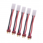 T Plug Male to TRX Connecting Wire for RC Model (5 PCS)