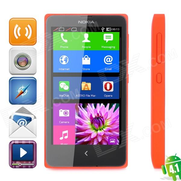 Nokia X Android 4.1 WCDMA Dual-core Bar Phone w/ 4.0 Screen, Wi-Fi and Bluetooth - Black + Red dc v100 15mp cmos digital camera w 5x optical zoom 4x digital zoom sd slot pink 2 7 tft