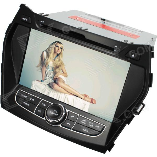 LsqSTAR 7 Touch Screen 2-DIN Car DVD Player w/ GPS,  FM, RDS, 6CDC, AUX for Hyundai IX45 / Santa fe lsqstar 7 touch screen 2 din car dvd player w gps am fm rds 6cdc tv dual zone aux for rav4