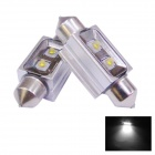 D&Z S362-10W Festoon 36mm 10W 200lm 2-LED White Car Dome Lamps (12~16V)