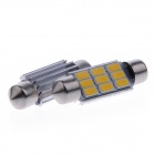 Festoon 39mm 4.5W  9-SMD 5730 LED White Indoor Light / Reading Lamps - Silver + Yellow (2 PCS)