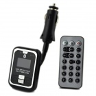 "1"" LCD Flexible Metallic Hose Bluetooth Handsfree Car Kit w/ FM Transmitter - Black"
