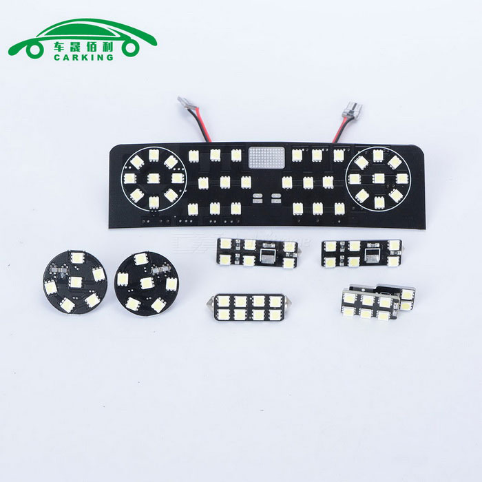 Carking 11 w 1050lm 6000 lys K 76-SMD 5050 LED-hvitt bil Dome Kit for Volkswagen Golf 6