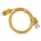 Shimmering Powder Style USB to Micro USB Data/Charging Cable for Samsung - Golden (100cm)
