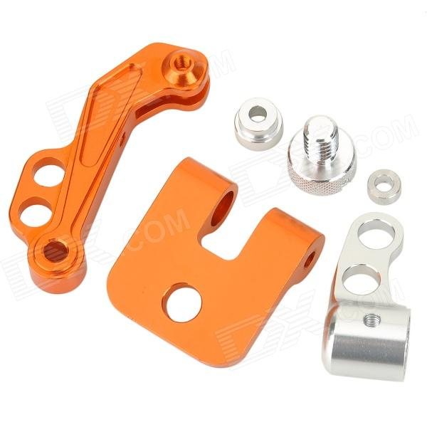 Aluminum Alloy FPV Monitor Mounting Bracket for Futaba - Silver + Orange usb3 0 round type panel mounting usb connecter silver surface