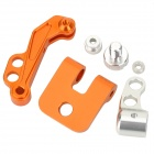 Aluminum Alloy FPV Monitor Mounting Bracket for Futaba - Silver + Orange